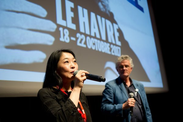 "Kaze Shindo après la projection de ""Sound of waves"" au THV"
